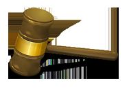 judge's gavel legal