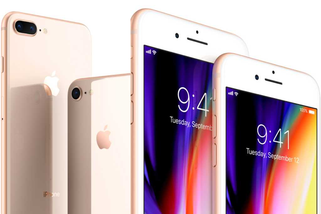Apple iPhone 8 and 8 Plus - front and back views