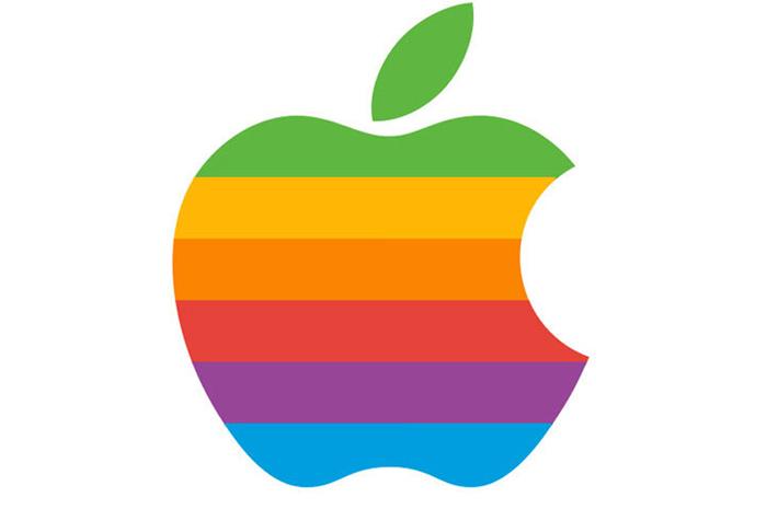 apple 6 color logo
