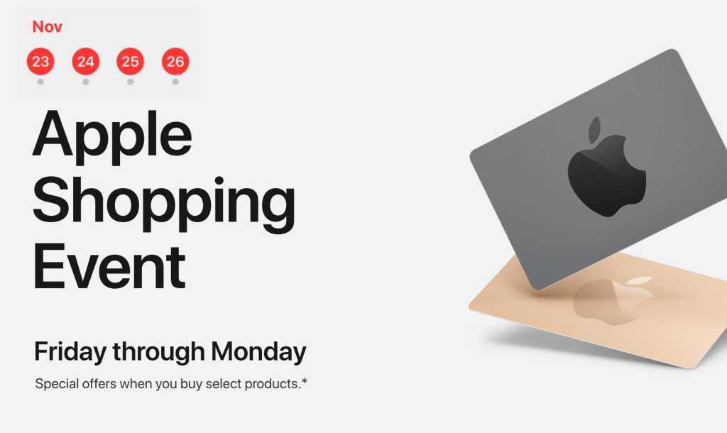apple black friday shopping event