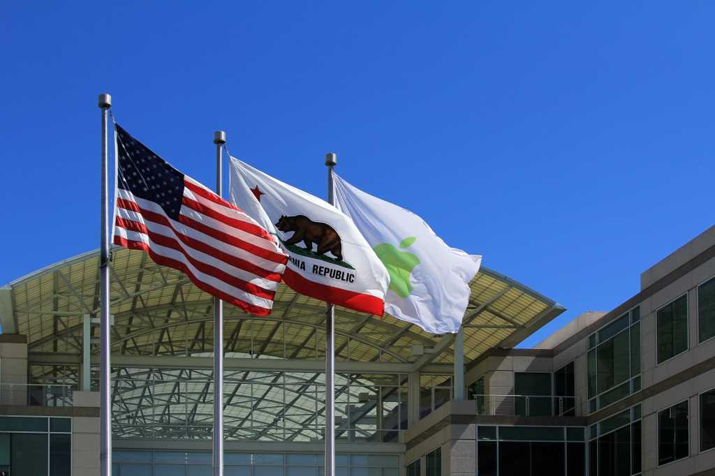 apple cupertino american flag fbi