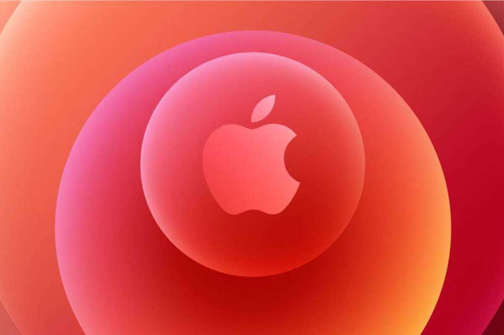 apple logo time flies orange