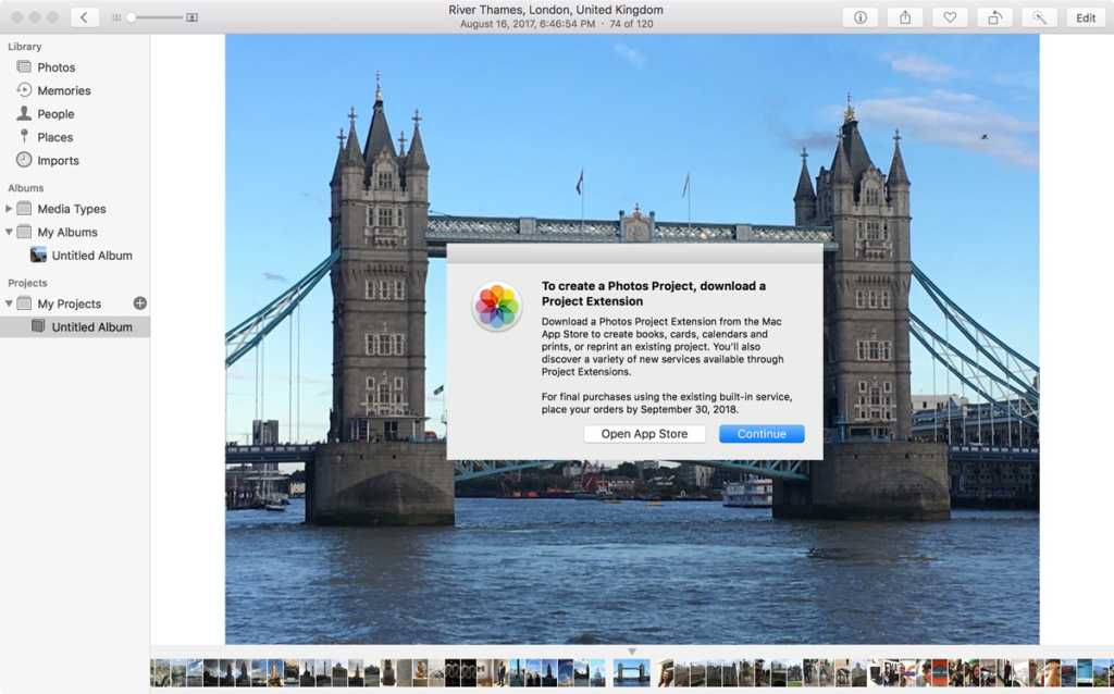 apple photos project extensions