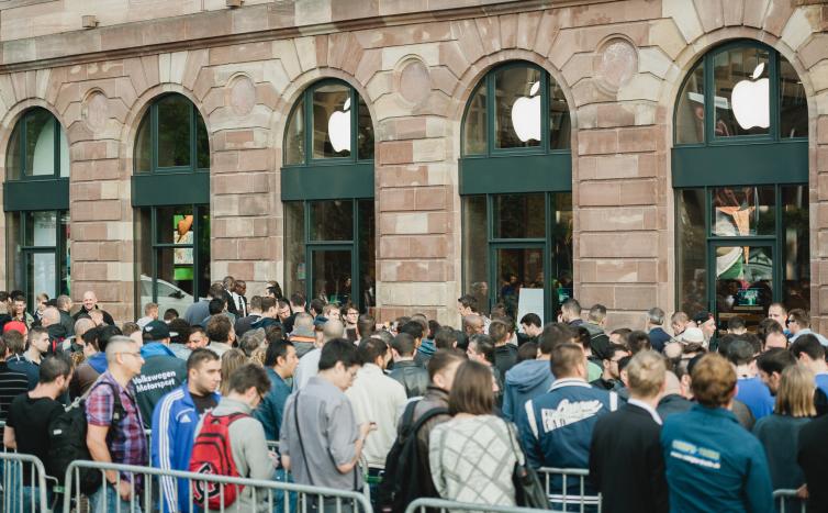 apple store lines