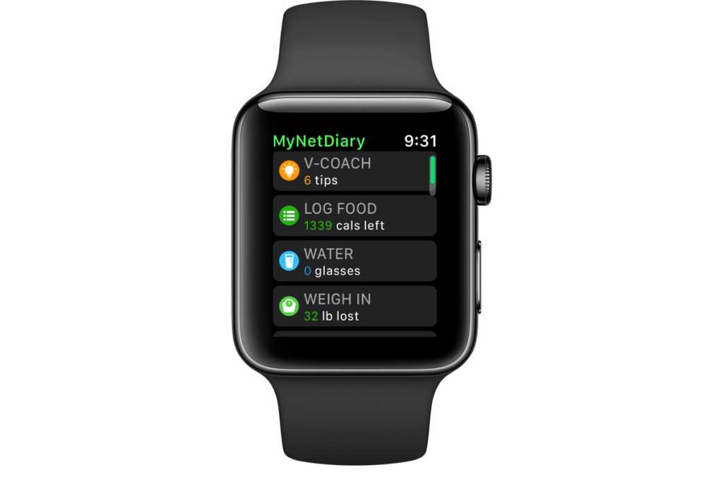 apple watch mynetdiary