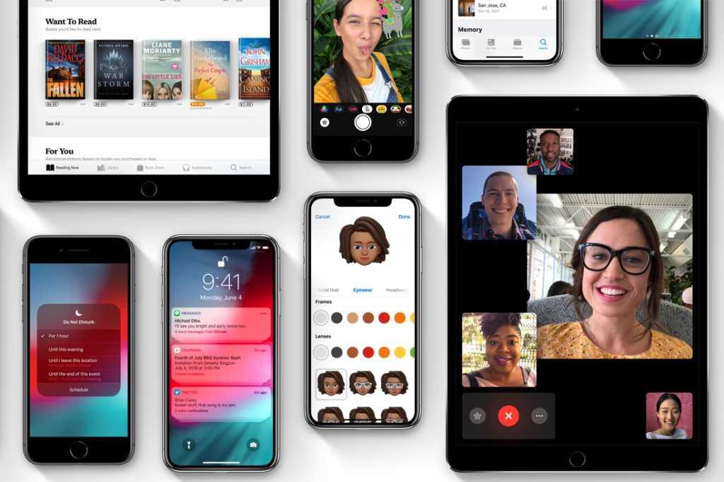 Apple iOS 12 devices, apps, widgets, control center, Meemoji