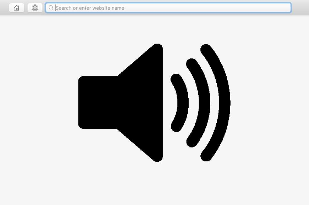 browser audio icon