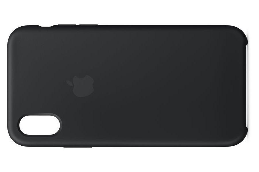 iPhone X silicone case (black)