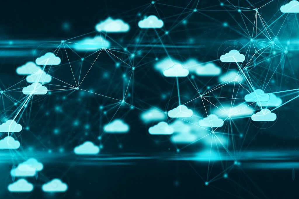 cloud computing network connections - IoT - internet of things