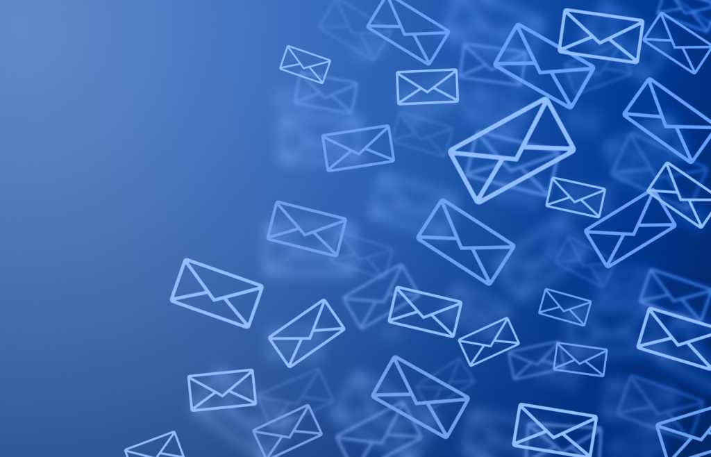 email image blue