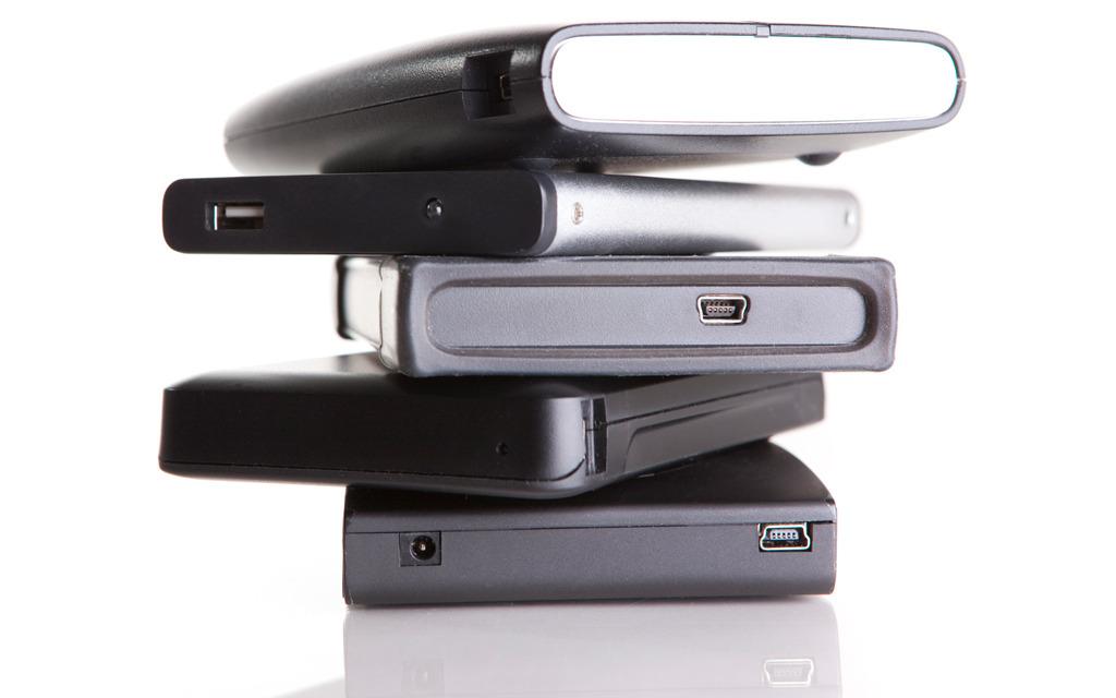 external hard drives stock