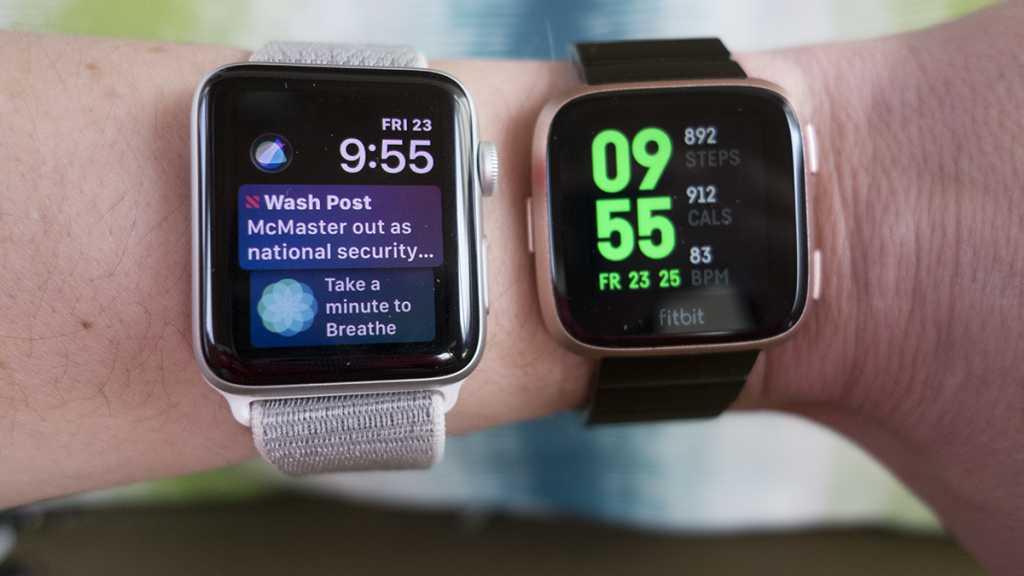 fitbit versa vs apple watch
