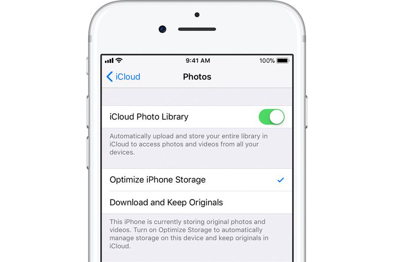 icloud photo library optimize