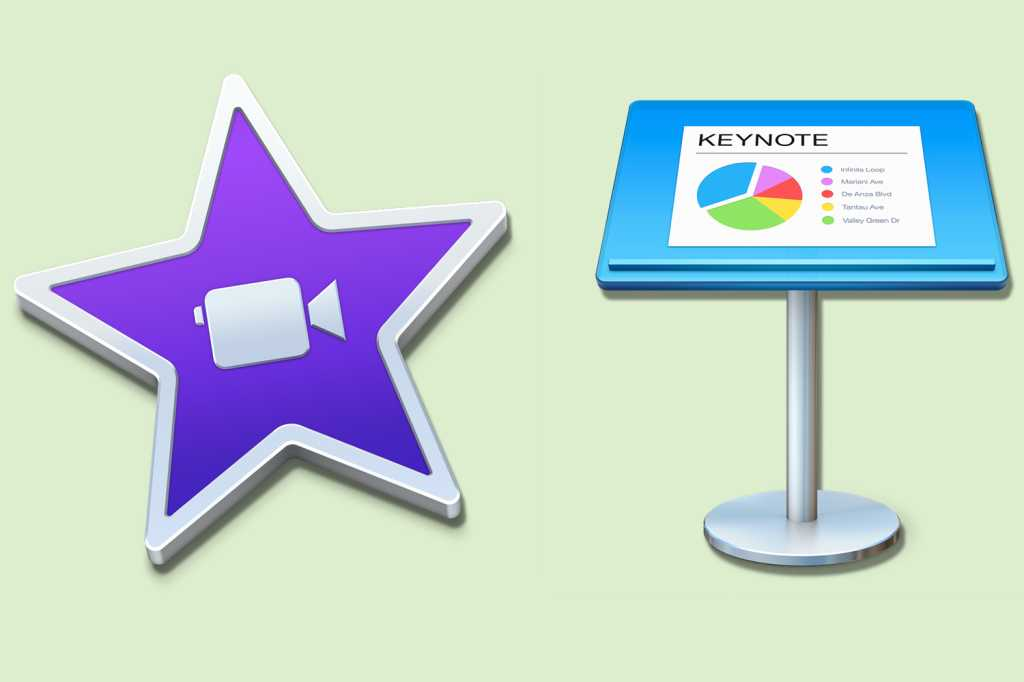 imovie keynote mac icons