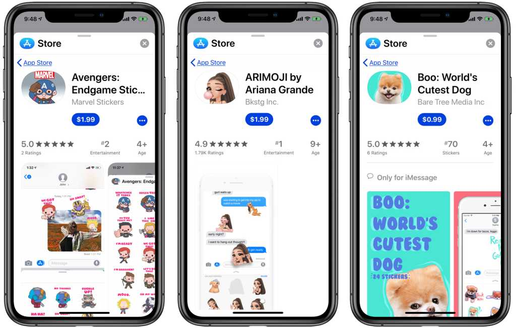 ios messages app store stickers