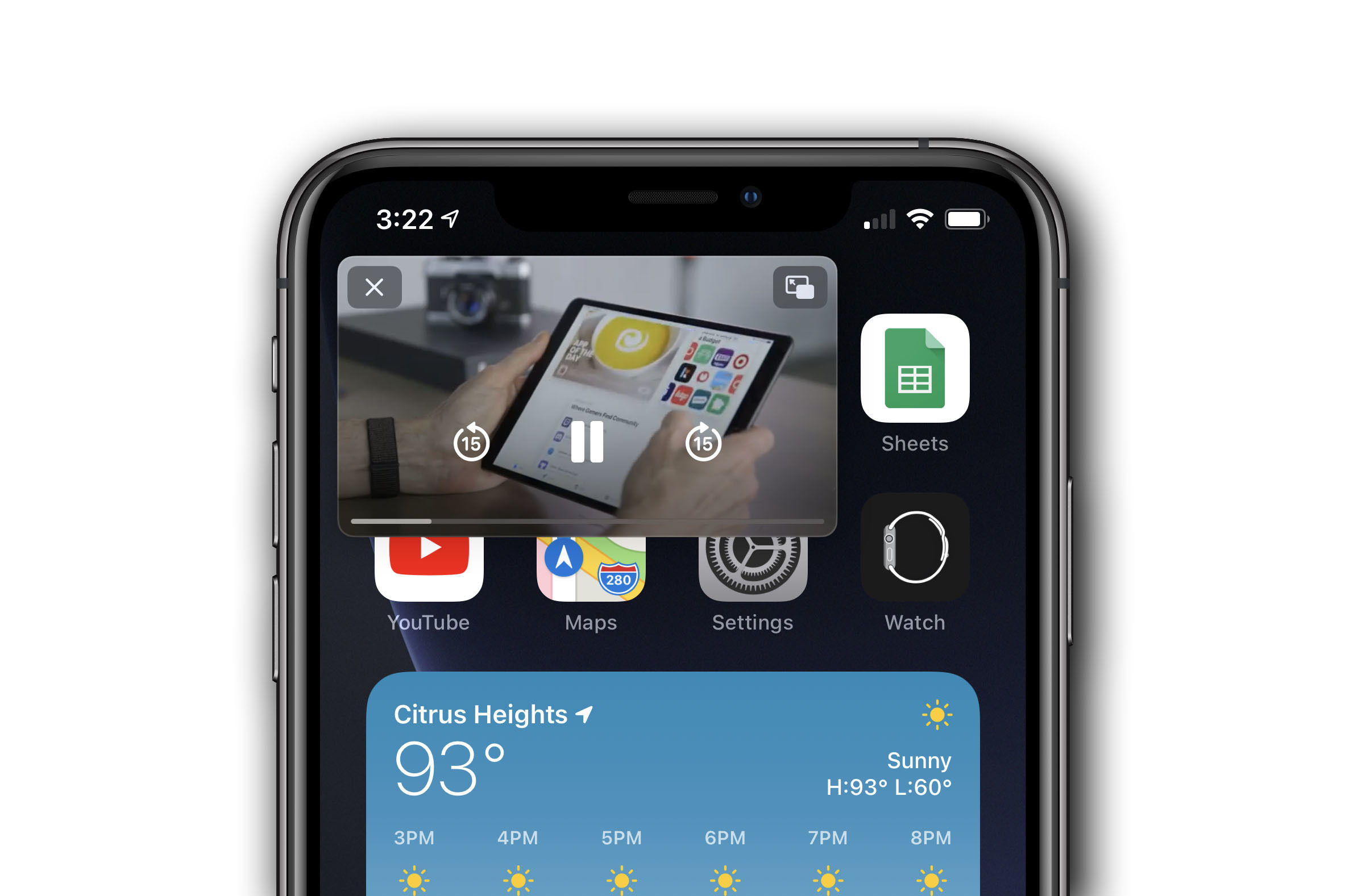 picture-in-picture iPhone in iOS 14