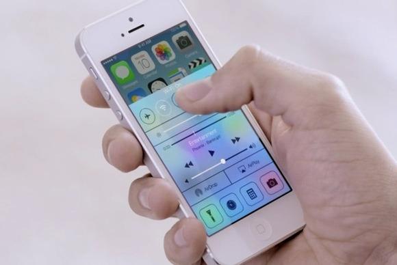 iPhone control center