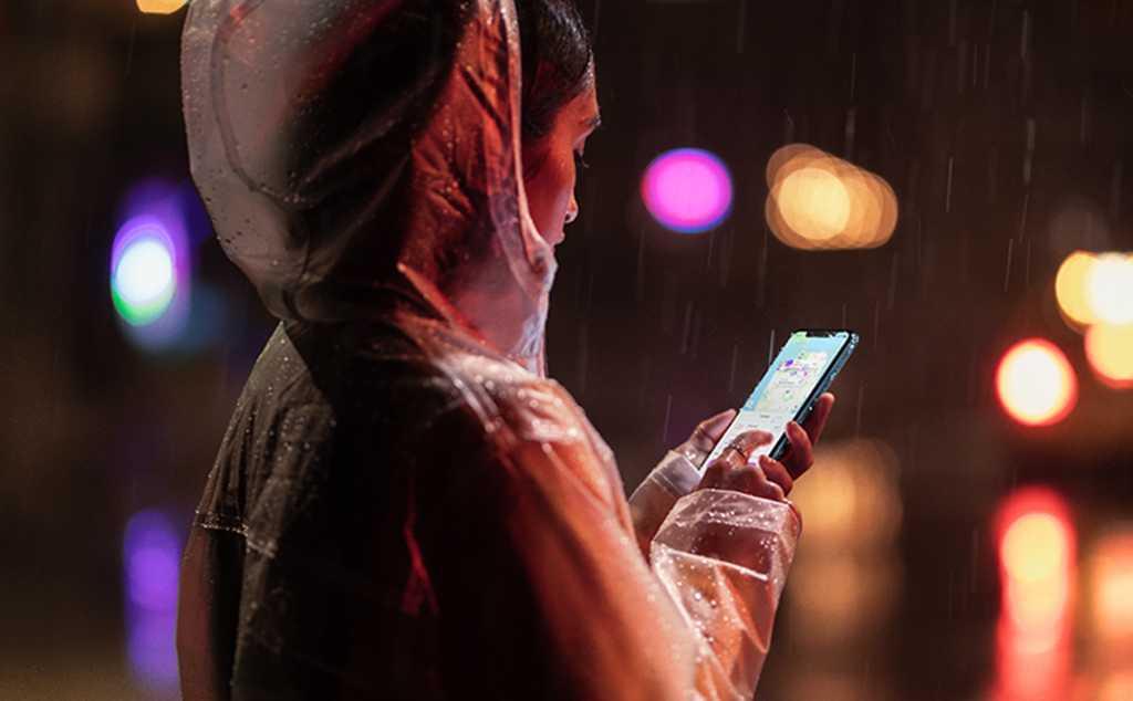 iphone xr rain shot
