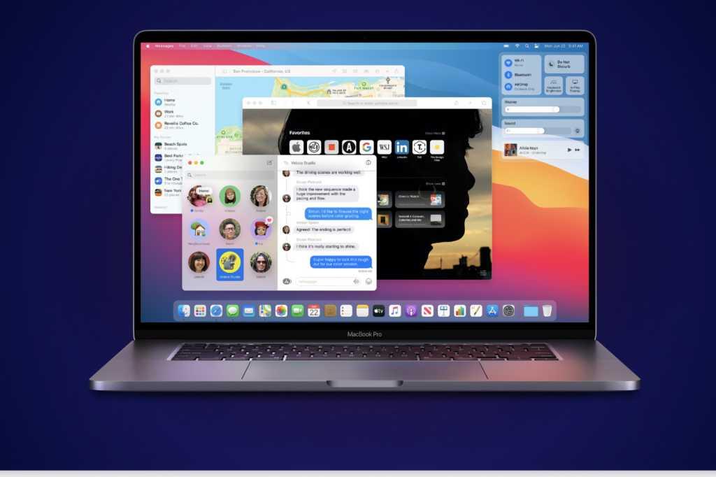 macbook big sur blue background