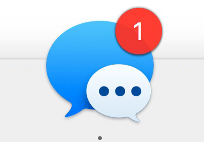 messages macos badge