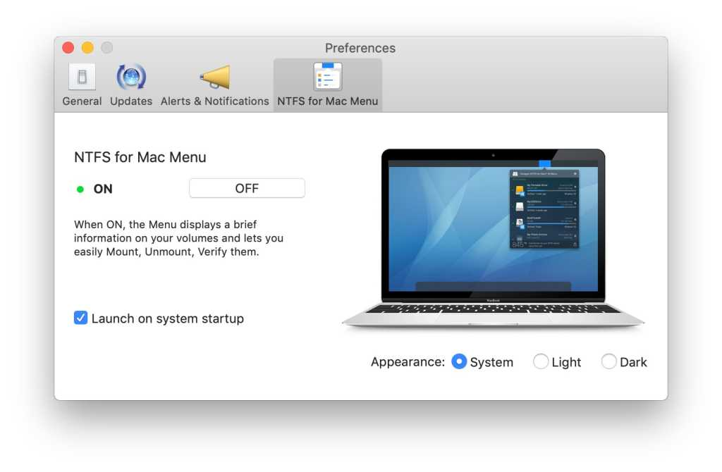 paragon ntfs for mac mojave edition menu bar prefs