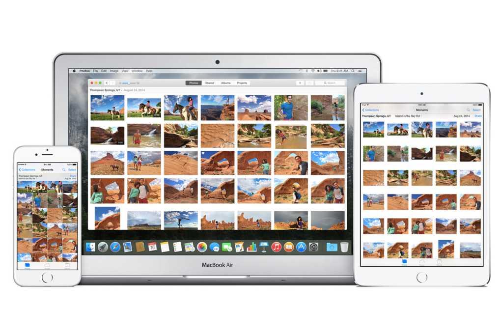 photos app osx ios family macbookair ipad iphone