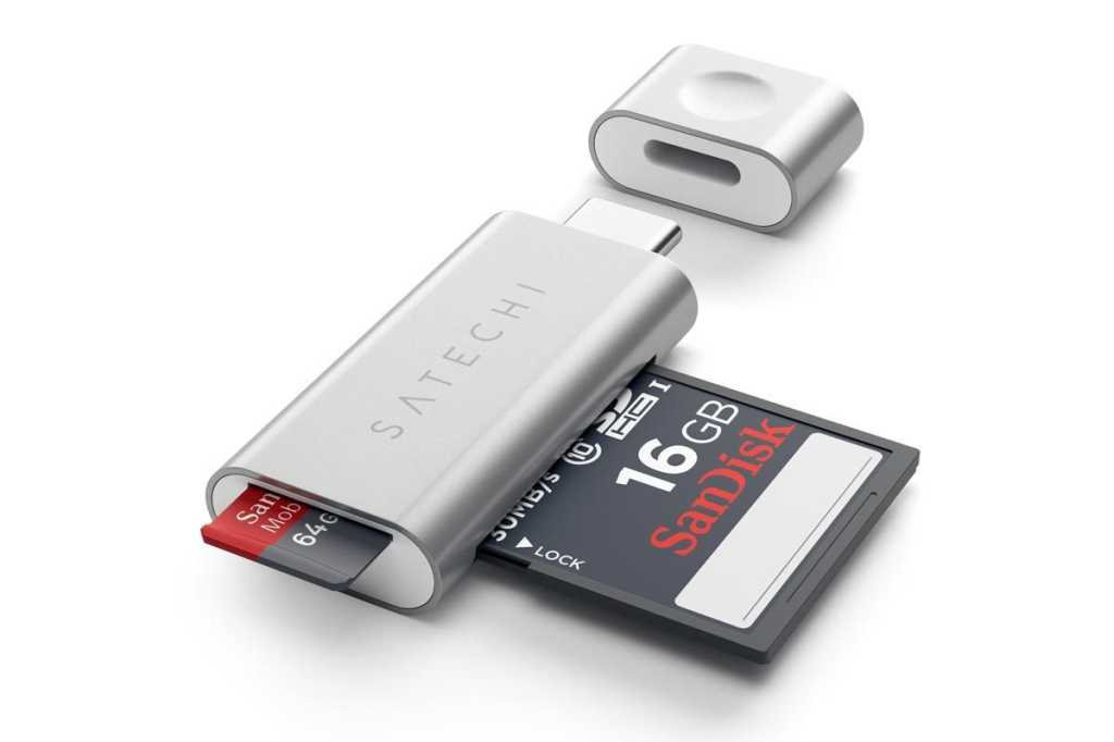 satechi typec micro sd  reader silver 5