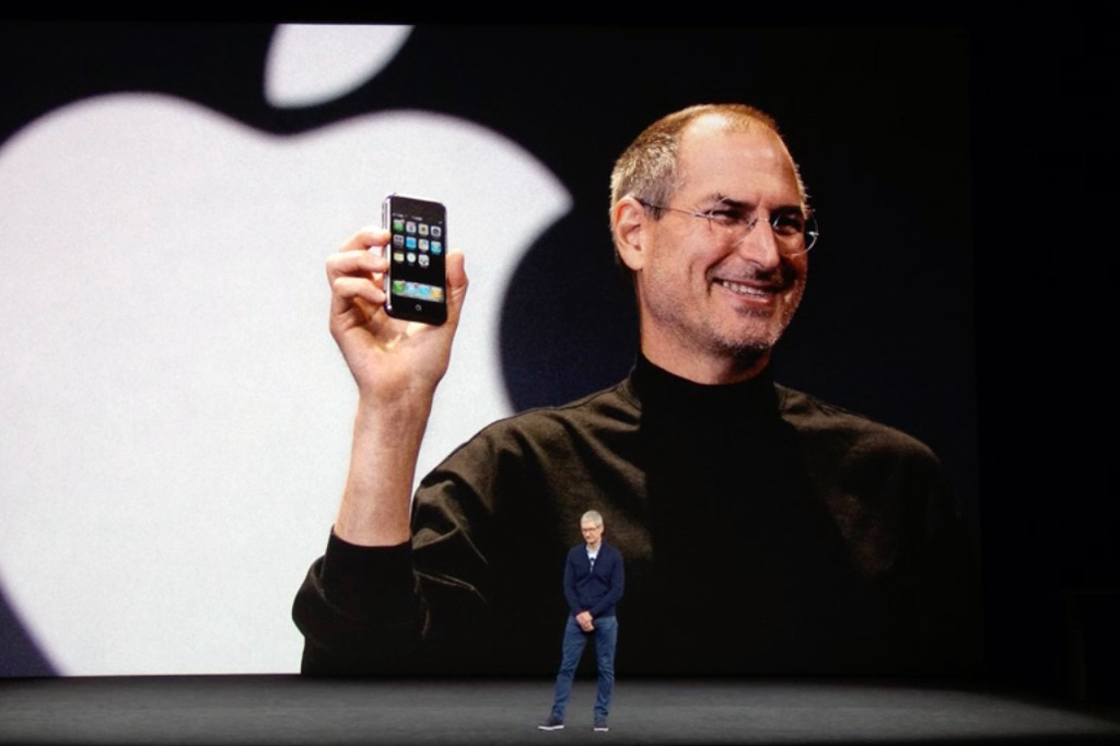 tim cook steve jobs iphonex event