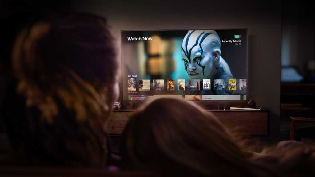 Apple TV and television viewer