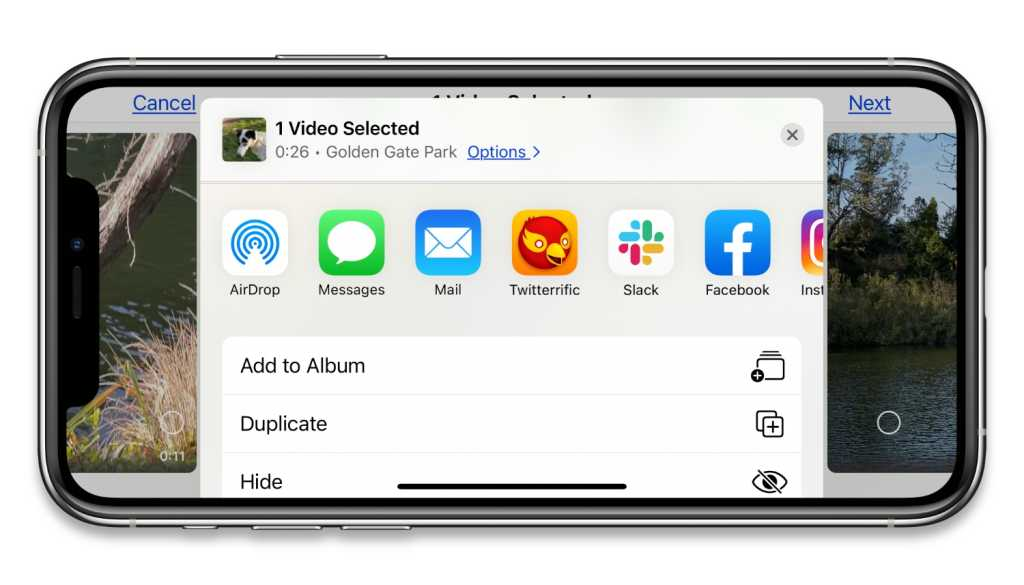 iOS 14 AirDrop video sharing