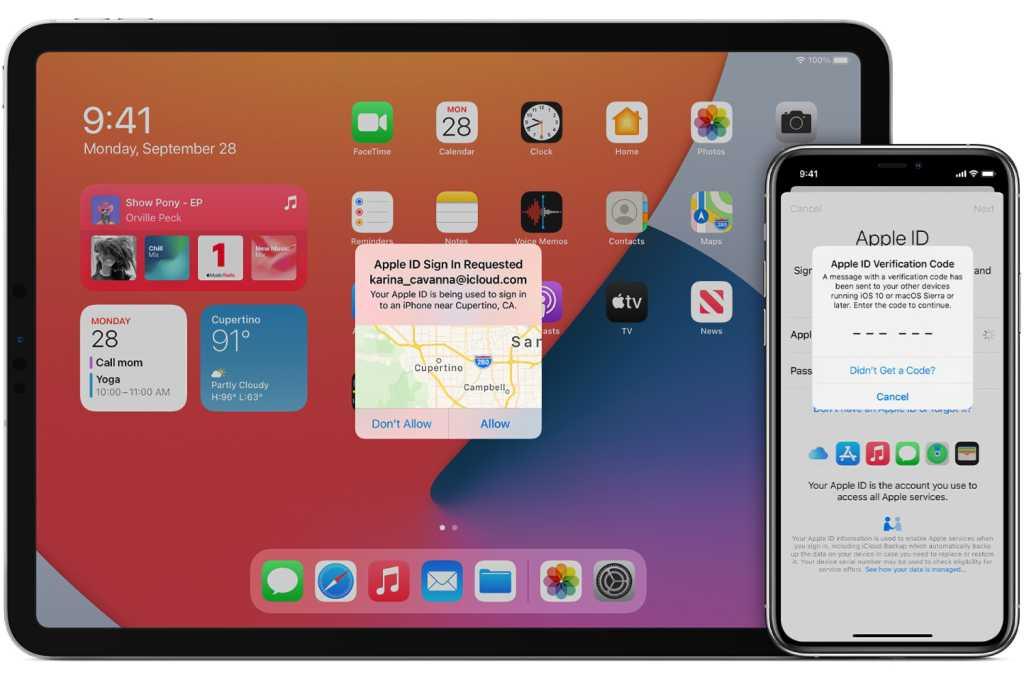 iPhone iPad 2fa two factor