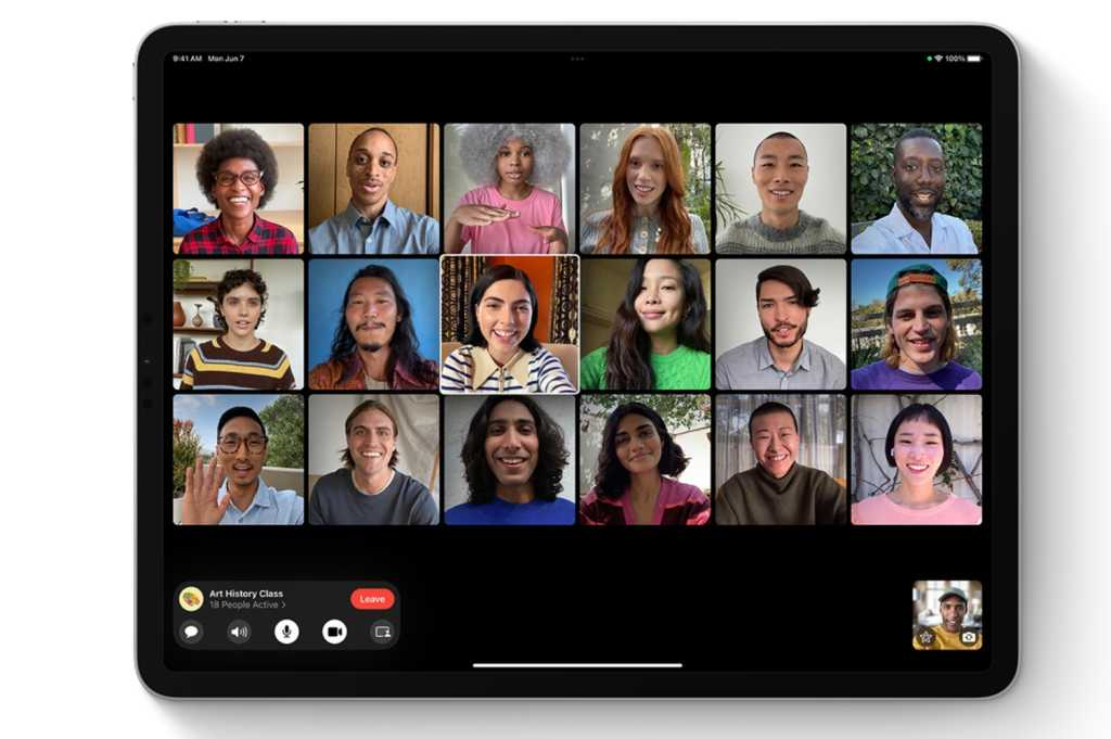 iPadOs 15 group FaceTime
