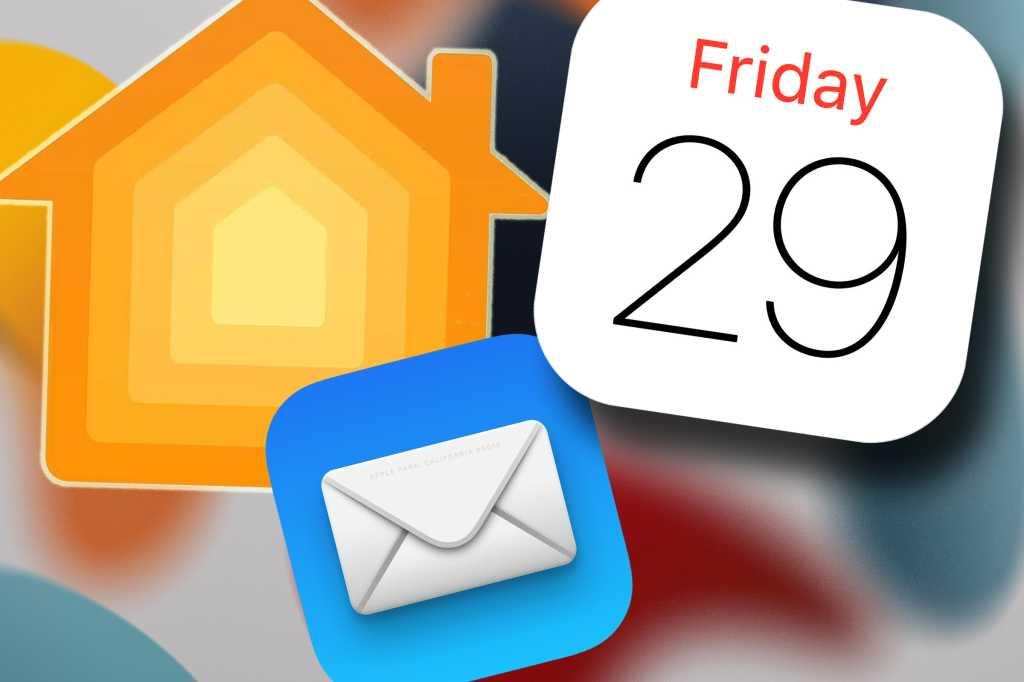 Mail, Calendar, Home