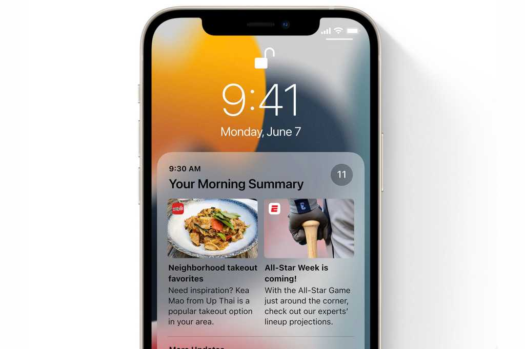 iOS 15 notifications summary