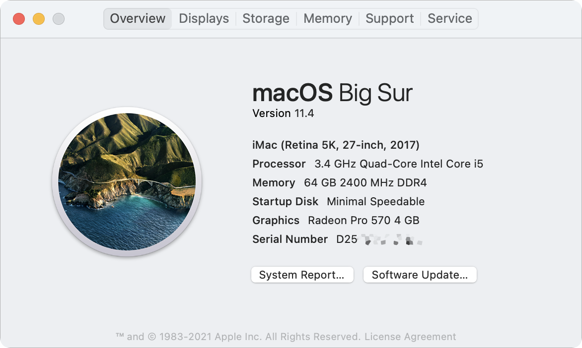 About This Mac (Big Sur)
