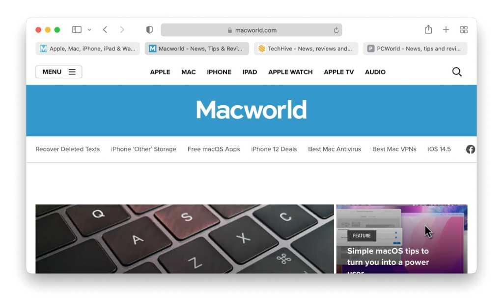 macOS Monterey Separate Tab Bar