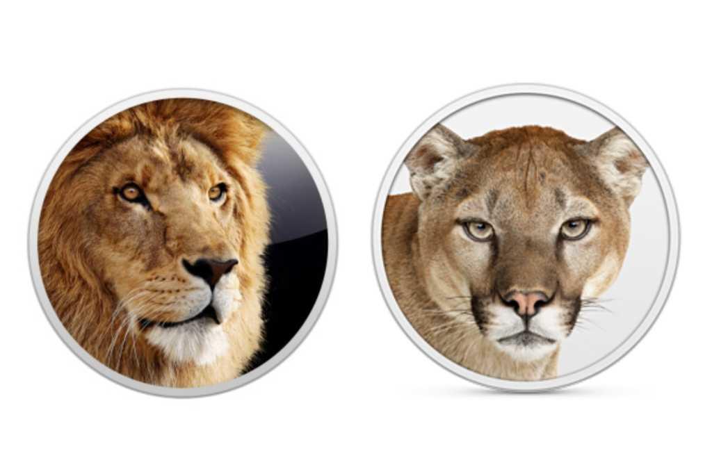 OS X Lion Mountain Lion icons