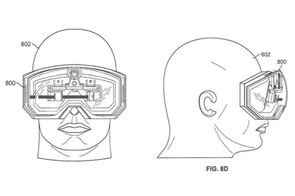 Apple AR glasses patent illustration