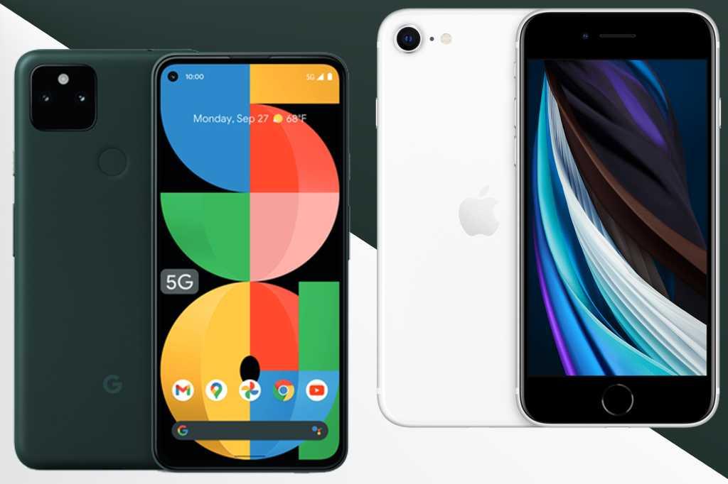 Pixel 5a vs iPhone SE