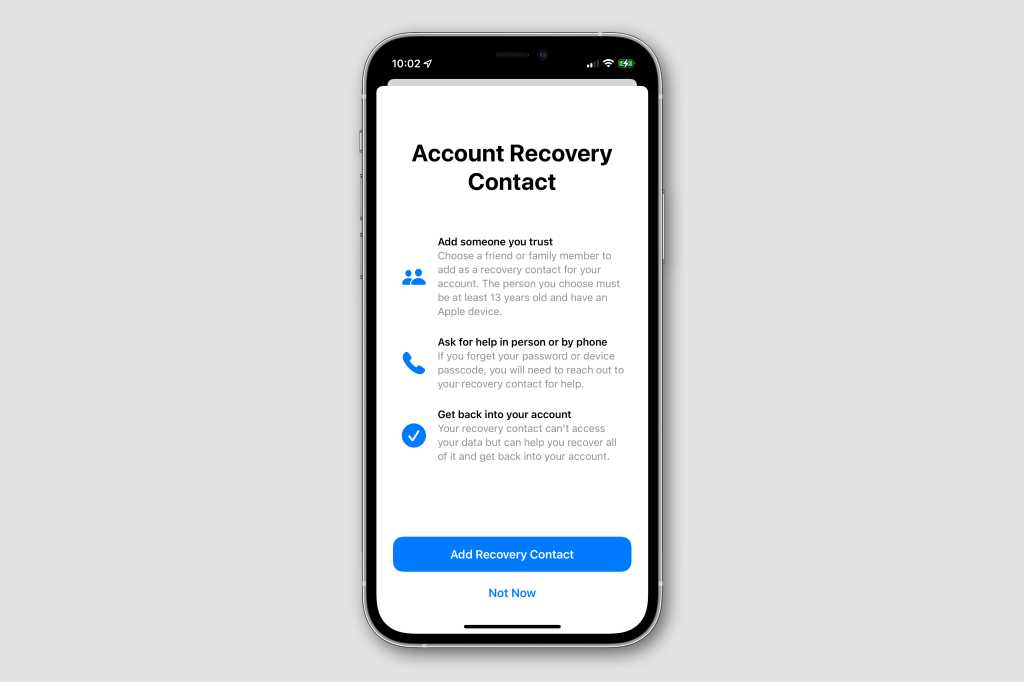 ios15 recovery contact