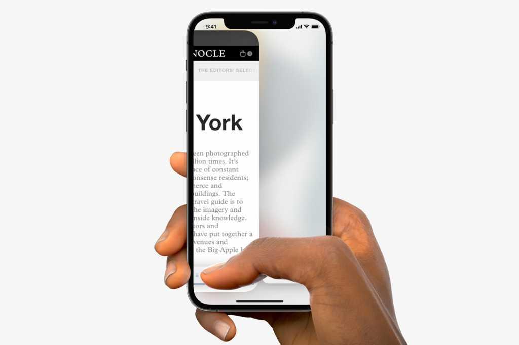 iPhone Safari gestures