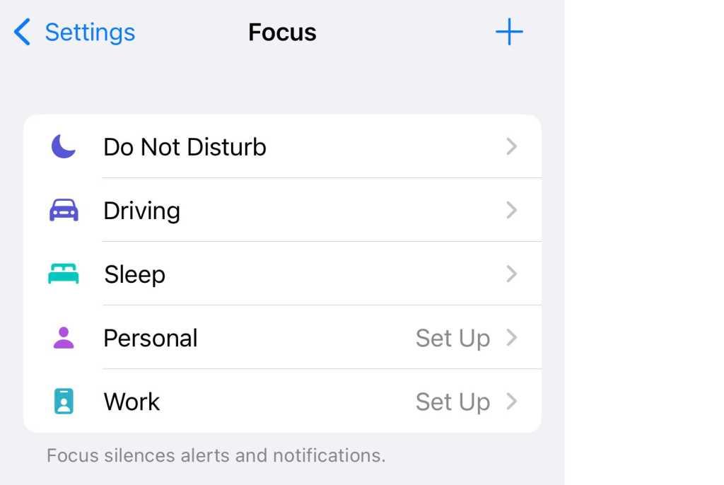 Focus Mode options